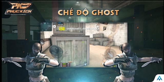 Quá nhanh quá nguy hiểm, Phục Kích Mobile bất ngờ cập nhật phiên bản Ghost huyền thoại Đột Kích lên mobile